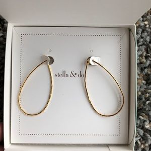 Hammered gold small hoop earrings, Stella & Dot